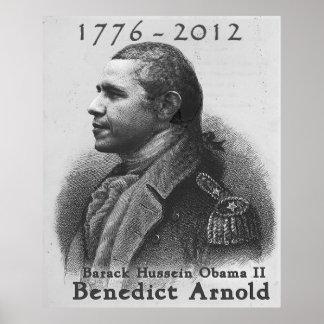 Benedict Arnold-Barack Hussein Obama Poster