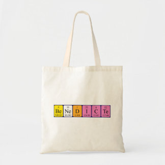 Benedicte periodic table name tote bag