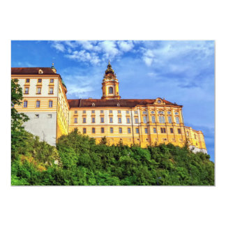 Benedictine abbey, Melk, Austria 13 Cm X 18 Cm Invitation Card