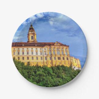Benedictine abbey, Melk, Austria 7 Inch Paper Plate