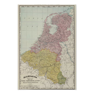 Benelux Countries Poster