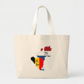 Benelux map canvas bags