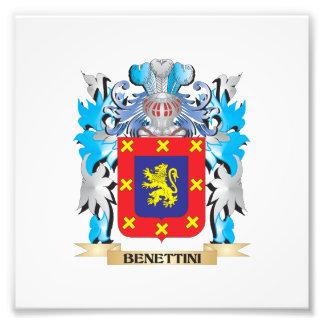Benettini Coat of Arms Photographic Print