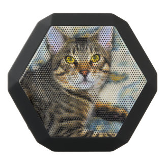 Bengal Cat Art Black Bluetooth Speaker
