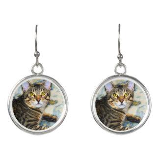 Bengal Cat Art Earrings