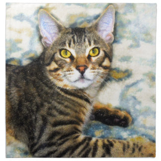 Bengal Cat Art Napkin