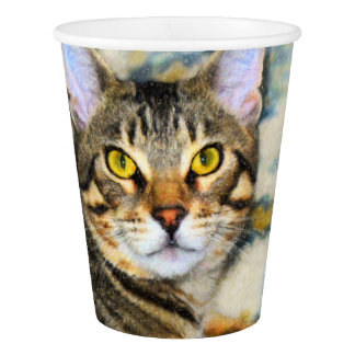 Bengal Cat Art Paper Cup