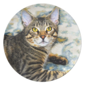 Bengal Cat Art Plate