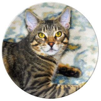 Bengal Cat Art Plate