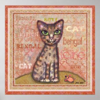 Bengal Cat Art Print