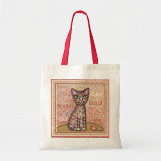 Bengal Cat Art Tote Bag