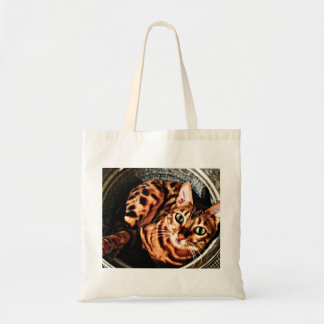 Bengal Cat Bucket Tote Bag