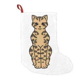 Bengal Cat Cartoon Small Christmas Stocking