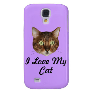Bengal Cat Head Galaxy S4 Covers