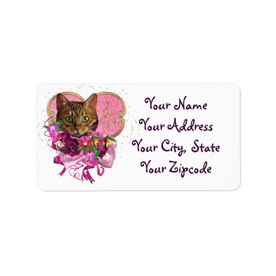 Bengal Cat Love Address Labels