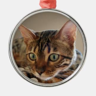 Bengal Cat Metal Ornament