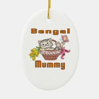Bengal Cat Mom Ceramic Ornament