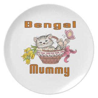 Bengal Cat Mom Dinner Plate