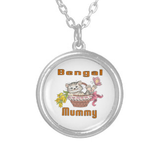 Bengal Cat Mom Silver Plated Necklace