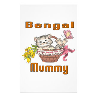 Bengal Cat Mom Stationery