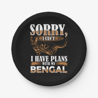 Bengal Cat Paper Plate