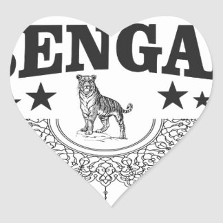 Bengal country heart sticker