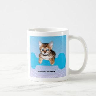 Bengal Kitten with Dumbbell blue Mugs