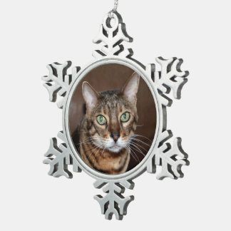 Bengal Love Snowflake Pewter Christmas Ornament
