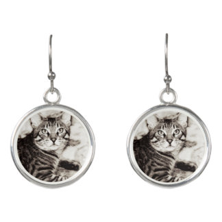 Bengal Photo Earrings
