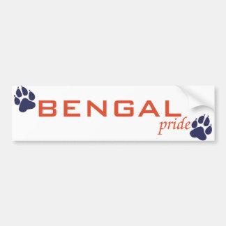 BENGAL pride Bumper Sticker Car Bumper Sticker