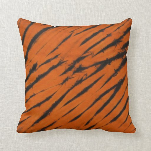 Bengal Stripes Tie Dye American MoJo Pillow