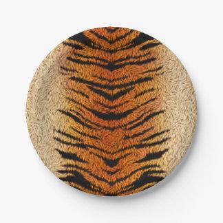 Bengal Tiger Animal Fur 7 Inch Paper Plate