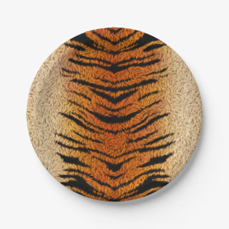 Bengal Tiger Animal Fur Paper Plate