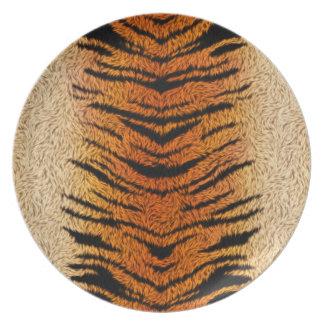 Bengal Tiger Animal Fur Party Plate