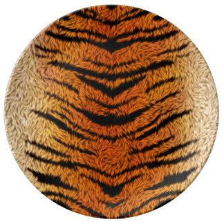 Bengal Tiger Animal Fur Porcelain Plates