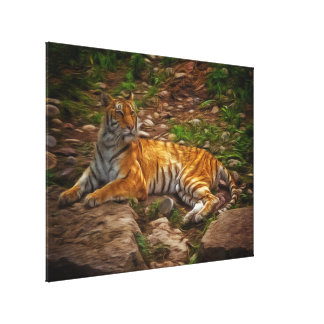 Bengal Tiger Stretched Canvas Prints