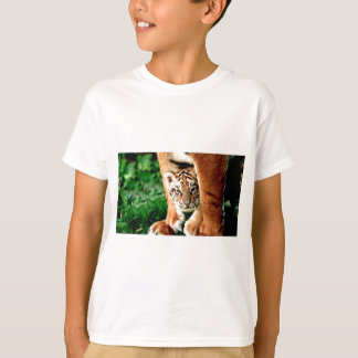 Bengal Tiger Cub Peers Out T-Shirt