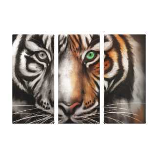 Bengal Tiger Eye 3 Pc Stretched Canvas Fade Canvas Print