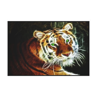 Bengal Tiger Glowing 2 Wrapped Stretched Canvas Print