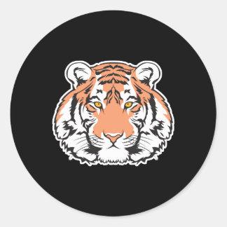 bengal tiger head classic round sticker