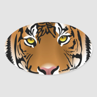 Bengal Tiger Oval Sticker