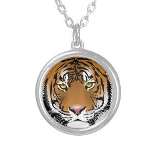 Bengal Tiger Silver Plated Necklace