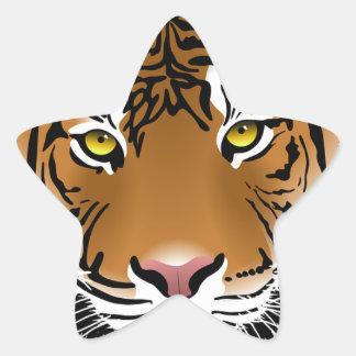 Bengal Tiger Star Sticker