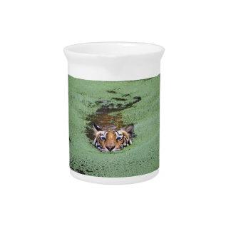 Bengal Tiger Swimming Pitcher
