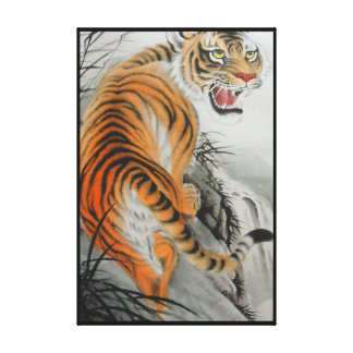 Bengal Tiger Wrapped Canvas Stretched Canvas Print