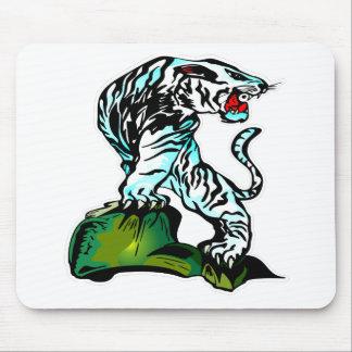 Bengal White Tiger Mouse Pad