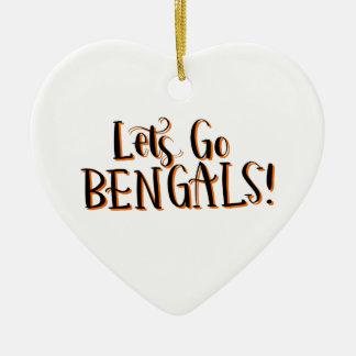 Bengals Print Ceramic Ornament