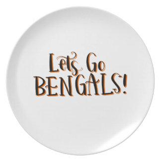 Bengals Print Dinner Plates