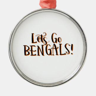 Bengals Print Metal Ornament