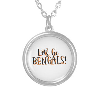 Bengals Print Silver Plated Necklace